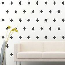 "4"" Set of 96 Dark Grey Diamond Shape Wall Decal Vinyl Sticker Wall Pattern Decor"