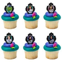 12 Disney Descendants Cake Cupcake Rings Birthday Party Toppers Favors