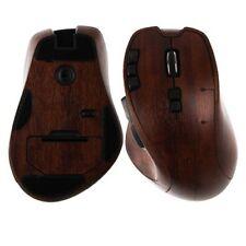 Skinomi Gaming Mouse Protector Skin Dark Wood Full Body Cover for Logitech G700