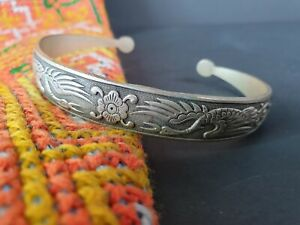 Old Chinese Silver Bracelet …beautiful collection and accent piece