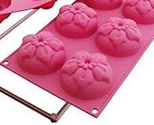 Silikomart SET OF TWO Bakeware Multi-Cake Pans NEW, Narcissus * Retails $68