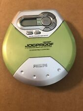 Portable Cd Player Phillips Jogproof 45 Esp Model Ax51171799 Tested Green