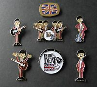 THE BEATLES FAB FOUR 60s BAND GROUP LAPEL PIN GIFT SET OF 7 SEVEN HAT PINS