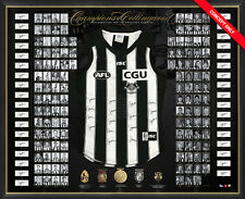 COLLINGWOOD MAGPIES CHAMPIONS HAND SIGNED FRAMED ANNIVERSARY DELUXE AFL JUMPER