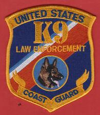 Uscg Us Coast Guard K9 Law Enforcement Police Shoulder Patch
