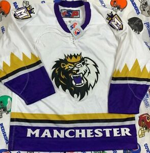 NWT'S SP Manchester Monarchs AHL Jersey Men's SZ 52 Pro Cut Fight Strap Blank