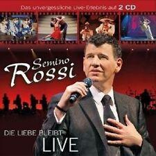 """SEMINO ROSSI """"DIE LIEBE BLEIBT (LIVE)"""" 2 CD NEW+"""