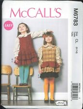 Easy Girls' Top Jumper Size 6 7 8 McCall's 6783 Uncut Ruffles & Lace Collection