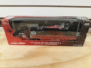 1/64 Jesse James transporter & dragster west coast choppers rare! Mac tools