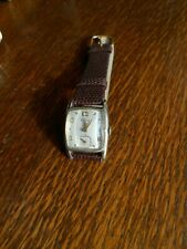 Vintage Men's Elgin Watch, Faceted Crystal, 17 Jewel