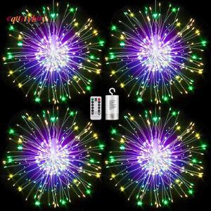 120LED Battery Hanging Firework Lamp Garden Starburst Stake Fairy Lights Wedding