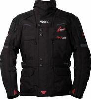 Weise Dakar Waterproof Thermal Motorcycle Motorbike Adventure Jacket - Black
