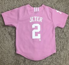 Adidas Derek Jeter #2 New York Yankees Pink Jersey Youth Size Small