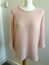 Women's ONLY Blouse Shirt Pink 3/4 Sleeved Top White Side Panel 36EU/8UK 50% Off