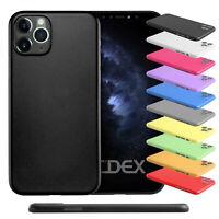 """Ultra Slim Case iPhone 11 Pro Max 6.5"""" Matt Clear Schutz Hülle Skin Cover Folie"""