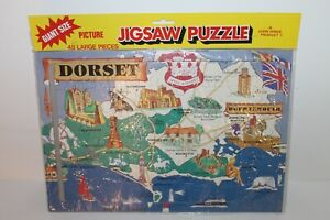 Vintage Giant Size 48 Pieces Jigsaw Puzzle Dorset by John Hinde - Sealed