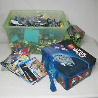 LEGO HUGE LOT 25 LB MIXED STAR WARS MINECRAFT EMPIRE STATE PLUS MANUALS CASE
