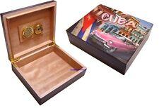 Cigar Humidor - Champ Cuba Design Black Lacquer Finish 20 Cigars - BRAND NEW