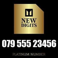 GOLD MEMORABLE UK DIAMOND PLATINUM MOBILE PHONE NUMBER SIM CARD