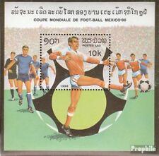 Laos Bloc 109 (complète edition) neuf avec gomme originale 1982 Football-WM 1986