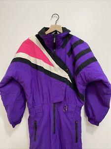 Vtg Ski-Snowsuit Profile One Piece Youth Size Large Regular Purple Colorblock