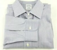 Brooks Brothers 1818 Regent Dress Shirt 16 - 33 Blue Striped Non Iron