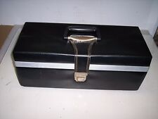 BLACK FAUX LEATHER 8 TRACK STORAGE CASE    **HOLDS 24 TAPES***   #14