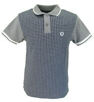 Trojan Records homme Tan Cut And Sew Stripe Dogtooth Polo Shirt