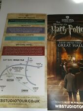 HARRY POTTER WARNER BROS TOUR LEAFLET FLYER PUT WITH TICKETS MAKES A GREAT GIFT