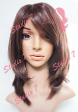 W24 Chocolate Brown Full Wig Medium Length Bob Straight Natural Look - studio7-u