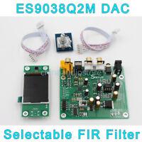 ES9038 ES9038Q2M Mini DAC SPDIF I2S DSD Decoder DAC Headphone Out,LCD Display