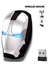 Ergonomic Wireless Mouse Iron Man Mouse 2.4G Portable Mobile Computer Mouse O...
