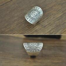 Women Vintage Antique Silver Festival Gypsy Bohemian Boho Carved Finger Ring