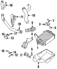 AUDI S4 S6 C4 2.2 20V TURBO INTERCOOLER LOWER DUCT 4A0117339 B