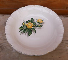 Antico piatto in ceramica,decorazione rosa,modello Promorose,arte popolare
