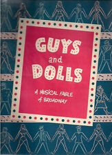 GUYS AND DOLLS vintage Theatre Program (circa early 1950's)