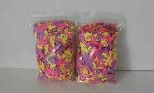 Party Confetti - 1000'S Of Mixed Shape Pieces - Pink, Purple & Yellow - 2Bags