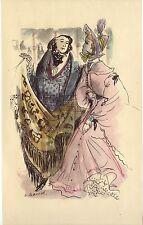 ILLUSTRATION de G. BARRET - Gaudissart II - H. de Balzac - 1949.