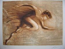GUINY Jean-Marie - Gravure signée numérotée marathonien etching