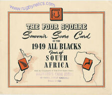 ALL BLACKS 1949 ITINERARY RUGBY TOUR OF SOUTH AFRICA