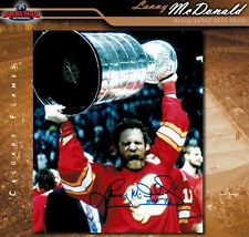 LANNY McDONALD Calgary Flames Autographed 8x10 Photo w/ HoF Inscription - 70341