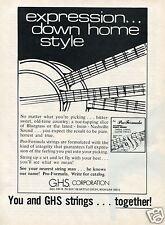 1973 GHS Corp Pro-Formula Twelve String Guitar Strings Print Ad