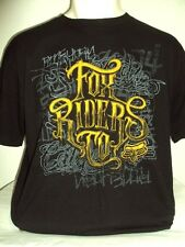 NEW FOX RACING RIDERS MEN FEEDBACK BLACK LARGE TEE T SHIRTS JJ6