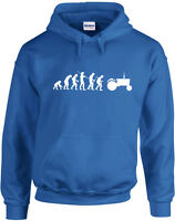 Evolution of Tractor, Farmer Inspired Printed Hoody Pullover Hooded Sweatshirt