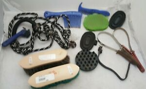 Horse Care Lot Grooming Brushes and Tools Pony
