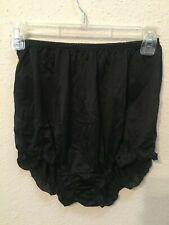 Vintage Texsheen Black Nylon Panties Ruffled Bloomer Size 34 Lot 6651