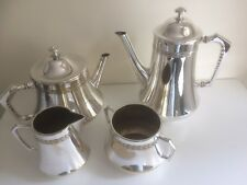 Vintage Art Deco W.M.F. Four Piece Silver Plate Tea & Coffee Service