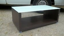 New Boxed Glass Walnut Effect Coffee Table LOCAL Delivery