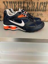Mint Nike Shock Heritage Running Sneaker Navy Blue Orange 386202 400 VTS Sz 8