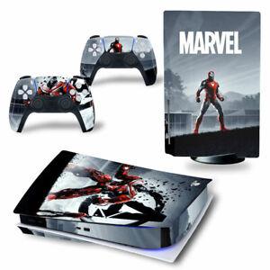 Skin fur PS5 Konsole Disc Edition Iron Man Aufkleber Vinyl Schutzfolie Folie